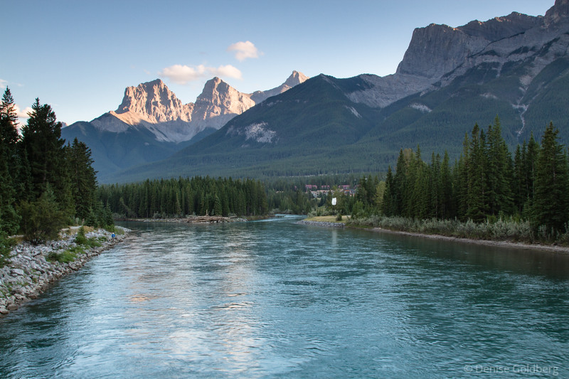 late day light, Bow River, Canmore