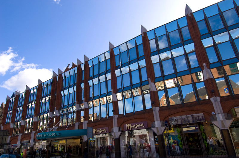 Front facade of Ealing Broadway Shopping Centre, W5, London, United Kingdom