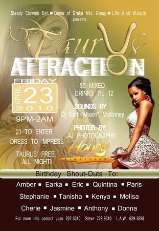 taurus Attraction 4-23-10