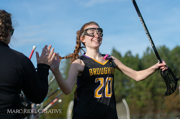 Broughton Lady Caps lacrosse at Middle Creek. February 26, 2019. D4S_1596