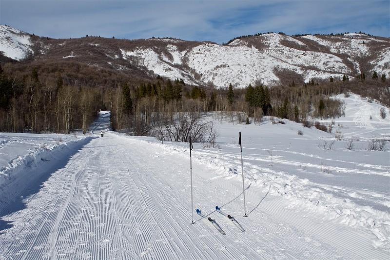 Cross Country skiing at Snowbasin