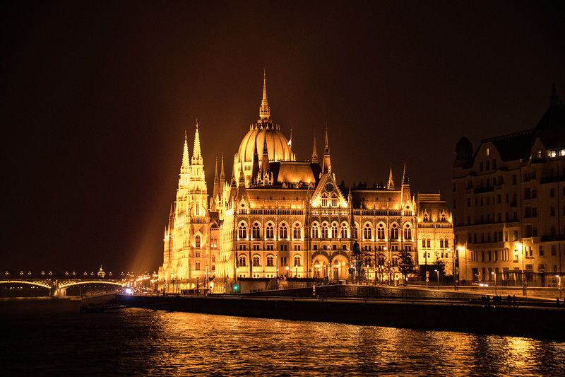 Budapest Parliament Building at Night
