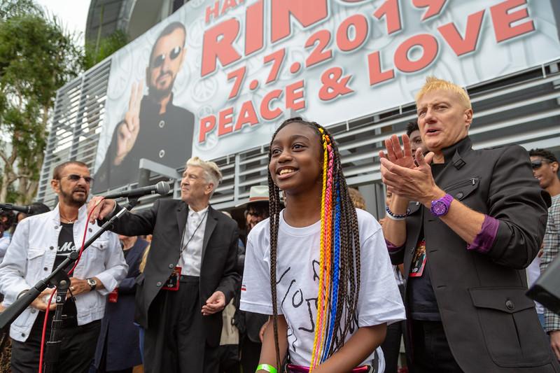 2019_07_07, Birthday, CA, Capitol Records, Los Angeles, Ringo, David Lynch, Ringo Starr, Names