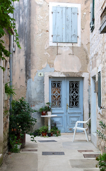 Scenic alleyway in Stari Grad on Hvar Island