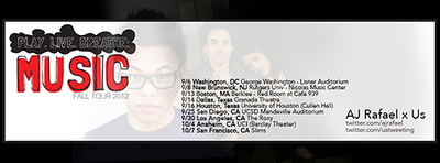 2012.09.14 | Live Show: AJ Rafael & Us Play, Live, & Breath Music In DC
