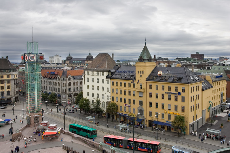 Downtown Oslo in the Central Station area