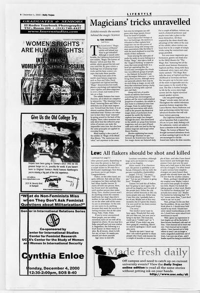 Daily Trojan, Vol. 141, No. 63, December 01, 2000