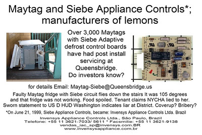 Maytag, Siebe Appliance Controls,  Invensys