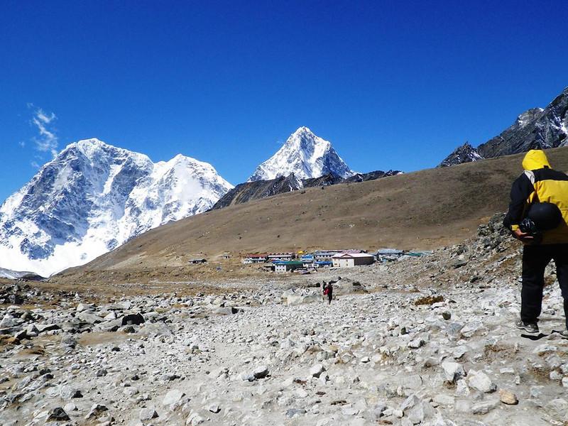 Lobuche (16,109ft = 4.910m) where we spent two nights.