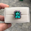 11.77ct Tourmaline Halo Ring by Leon Mege, AGL Cert 22
