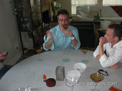 Brian Blackwell's visit dinner (16 Aug 2008)
