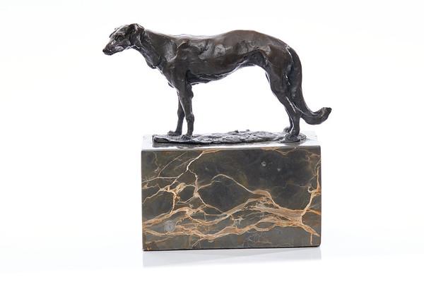 Bronze on white