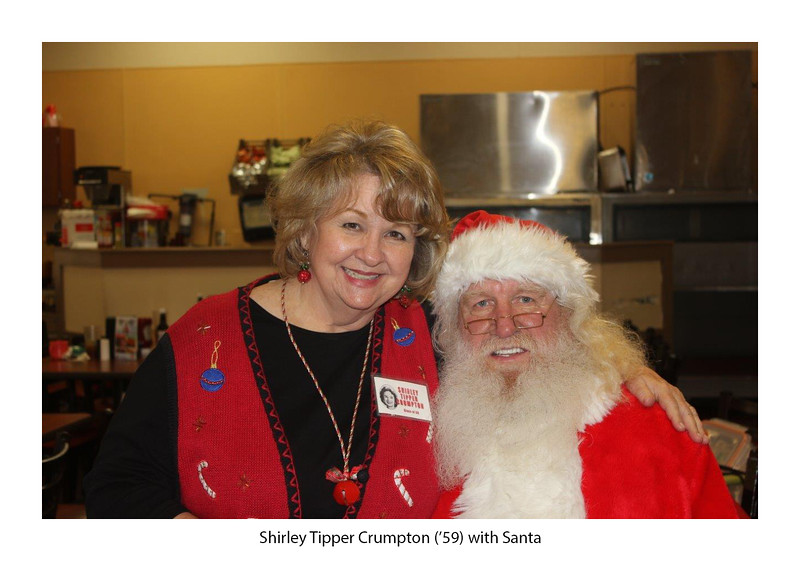 Shirley Tipper Crumpton '59 and Santa.jpg