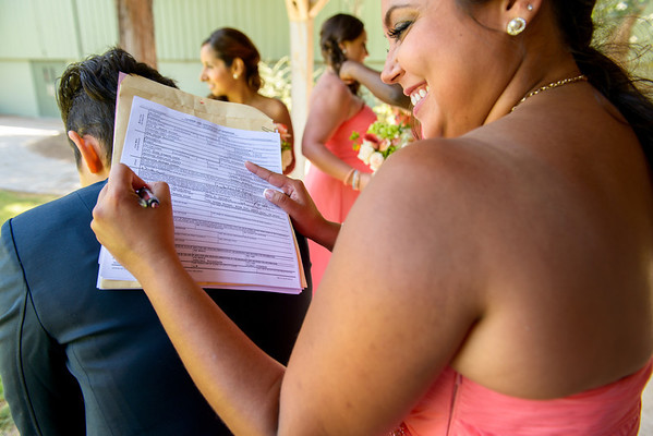 Signing the Marriage Certificates