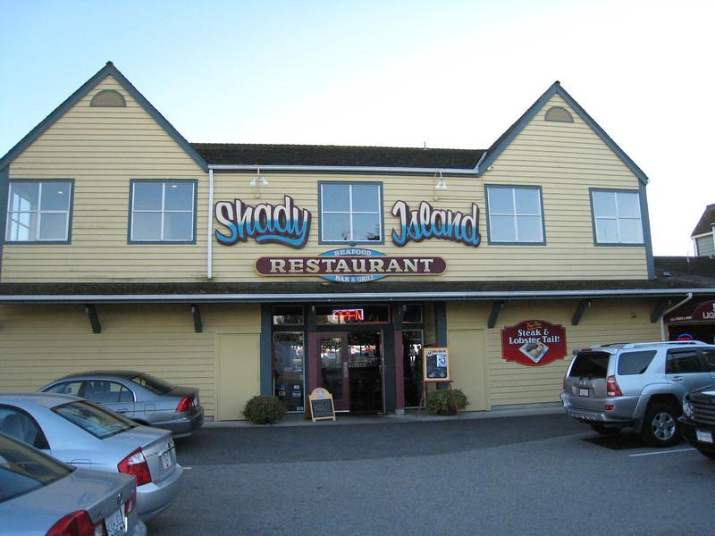 The last night - the last pub - Shady Island in Steveston (outside Richmond/Vancouver)