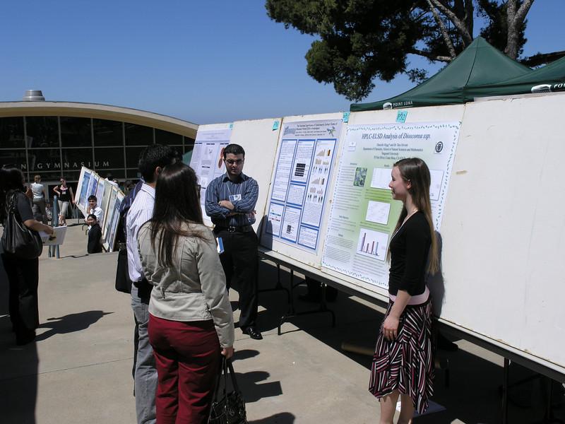 Student poster presentation.