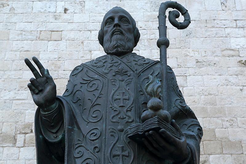 St Nicholas statue in Bari, Puglia, Italy