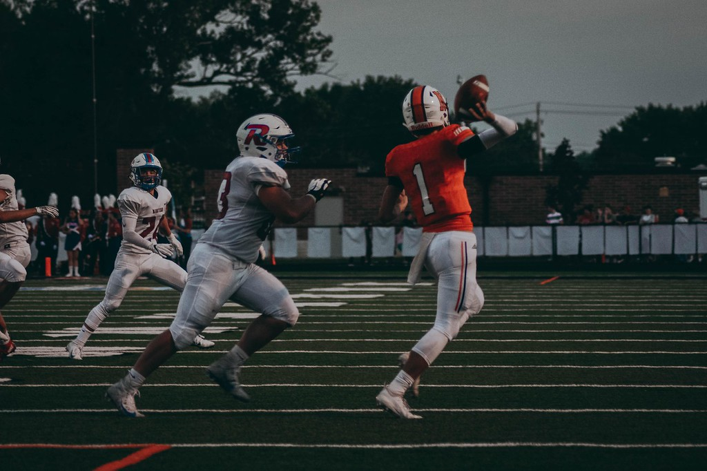 . Sami Butler - The News-Herald Action from North\'s game against Revere Aug. 31. Revere won, 46-0.