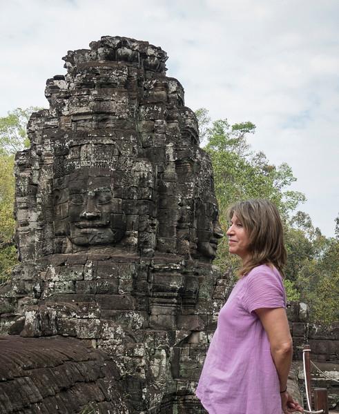 Nose to nose at Angkor Thom