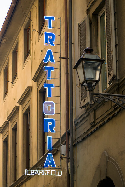 Trattoria Neon Sign, Florence, Italy