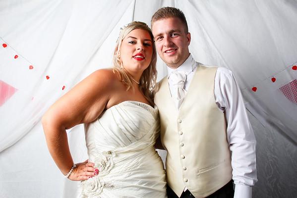Stephanie and Fabio wedding photo booth