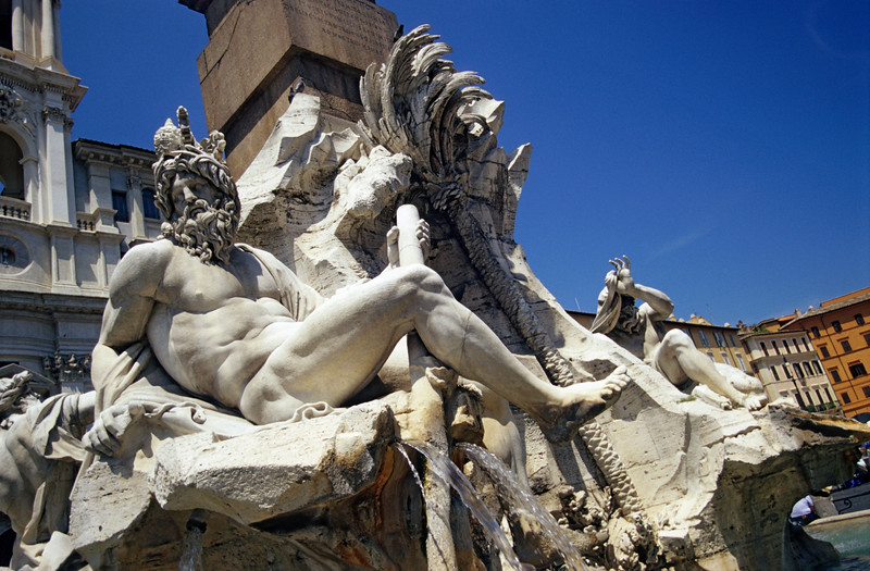 River Ganges Statue, Piazza Navona, Rome (Italy)