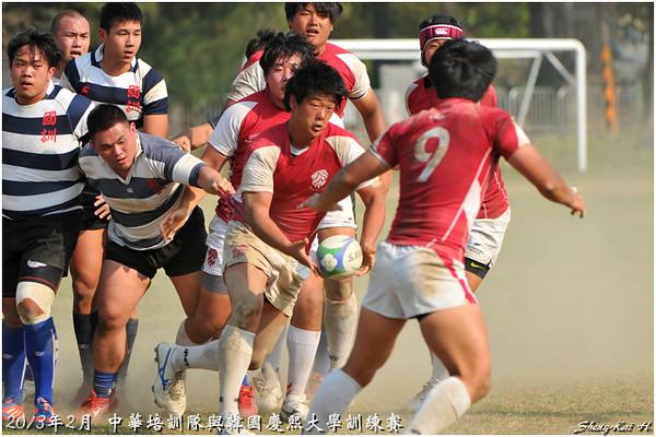 2013中華培訓隊與韓國慶熙大學練習賽(TWN vs KHU)