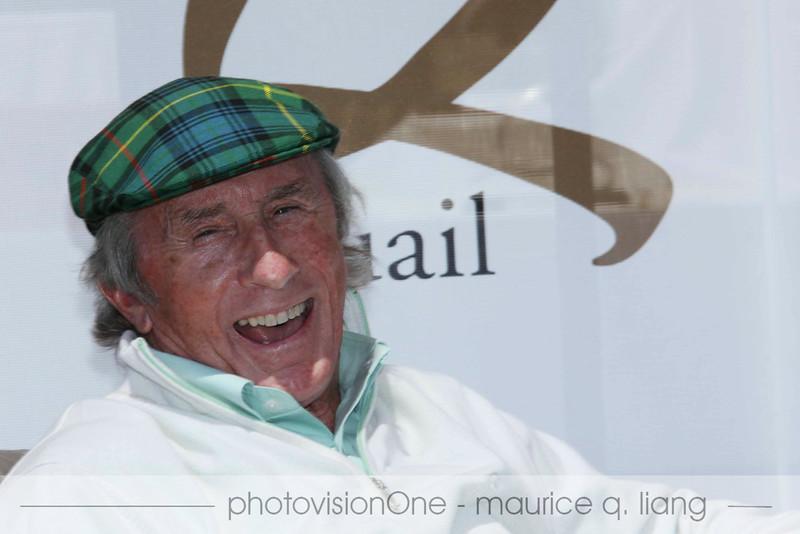 Closeup of Jackie Stewart.