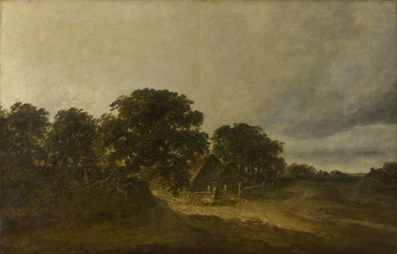 Landscape with Trees, Buildings and a Road