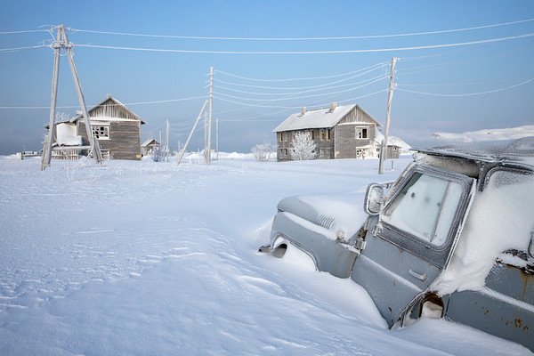 A village in winterland