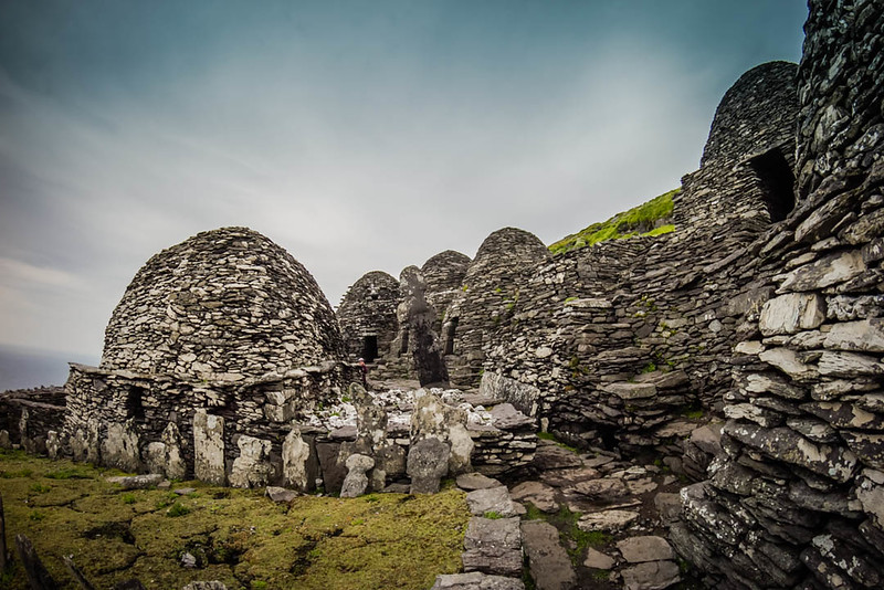 Beehive monasteries on Skellig Michael Island