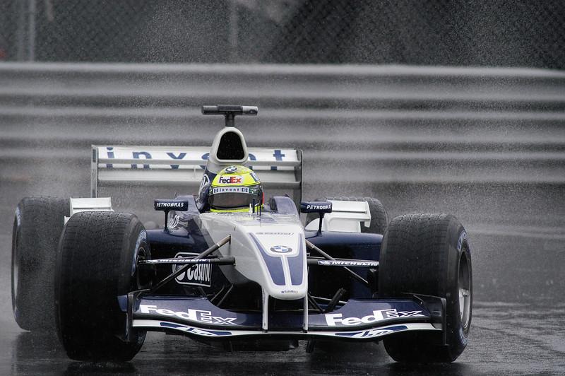 Grand prix de F1 de Montréal / Montreal F1 Grand Prix, 13-06-2003, Ralf Schumacher: A rainy moment for Ralf in a Williams. / Ralf sous un moment de pluie dans la Williams.