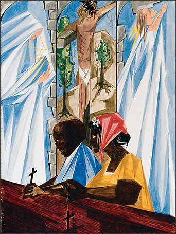 "Jacob Lawrence, ""Life, Death and Resurrection"" (1955)"