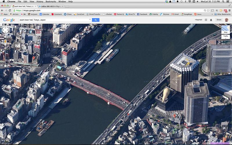 Upcoming photos of Asahi Beer Hall (yellow flame at right)