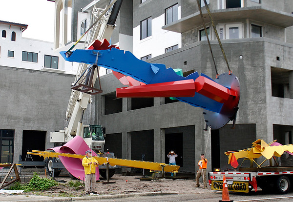 Albert Paley Sculpture Installation