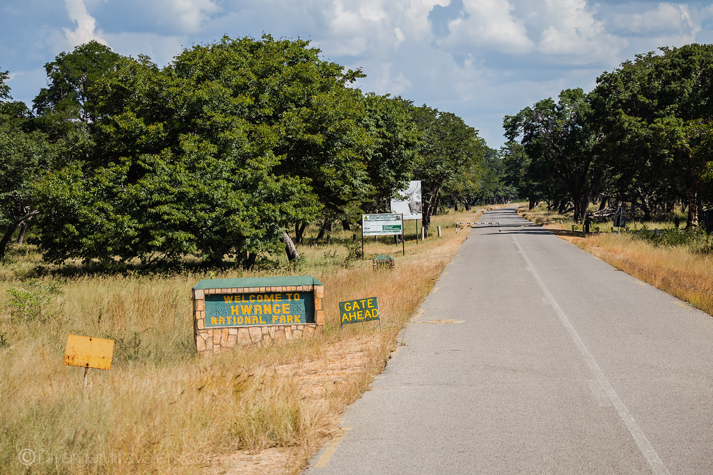 Entrance to Hwange NP