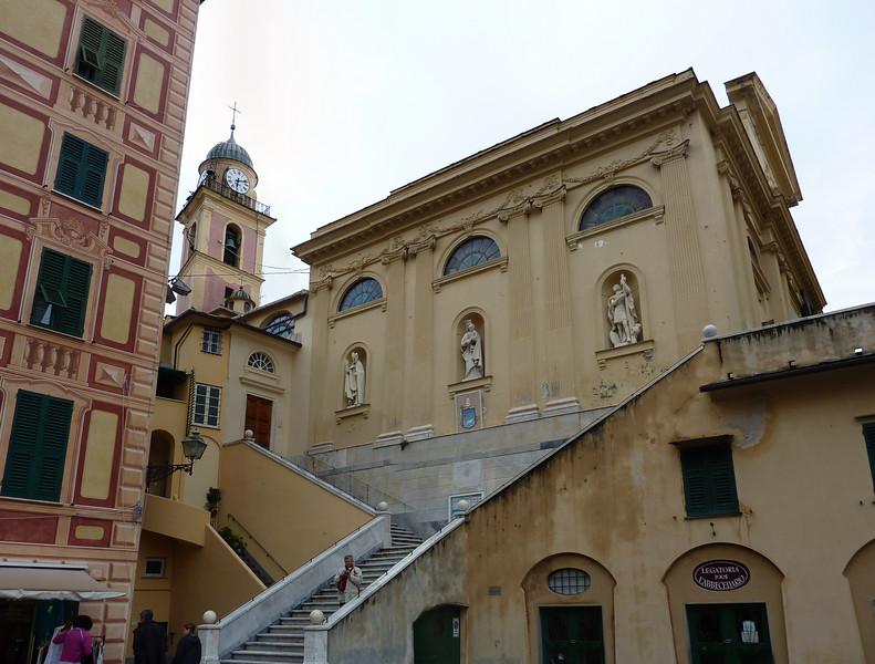 Camogli, the church