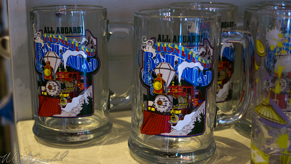 Disneyland Resort, Disneyland, Railroad, Glass, Mug