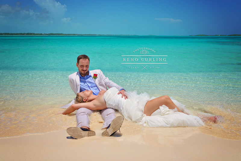 Wedding on a private island Sunset Wedding  in Exuma Bahamas photo by Reno Curling #renocurling