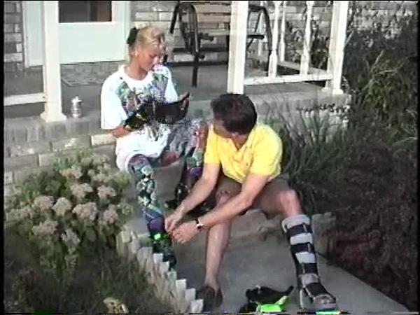 Fran Rollerblading in Eagle Lake July'92