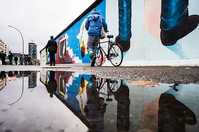 Reflection at The Berlin Wall.