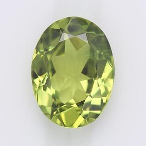 2.16 No heat Australian sapphire, light green oval (S108)