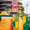 Green and Gold everywhere | 2015 Asian Cup Final Match | Australia vs South Korea | Stadium Australia | January 31, 2015 in Sydney, Australia