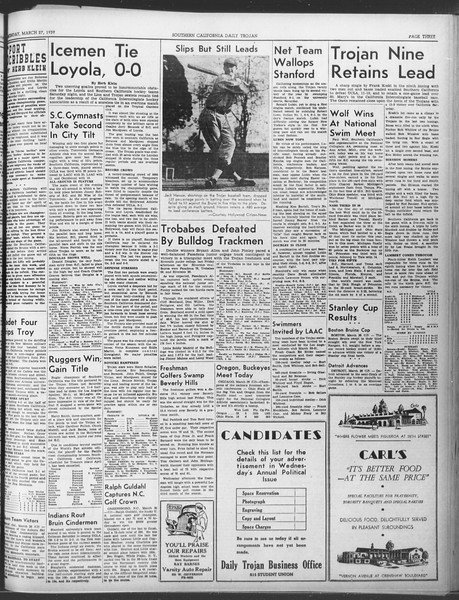 Daily Trojan, Vol. 30, No. 106, March 27, 1939