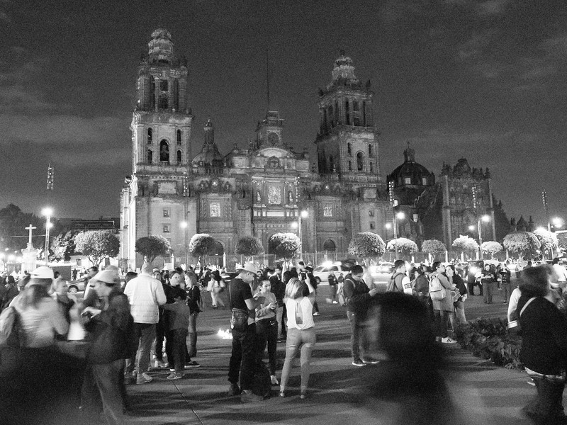Zócalo crowds
