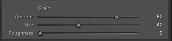 Settings for very smooth Grain in the Effects Panel
