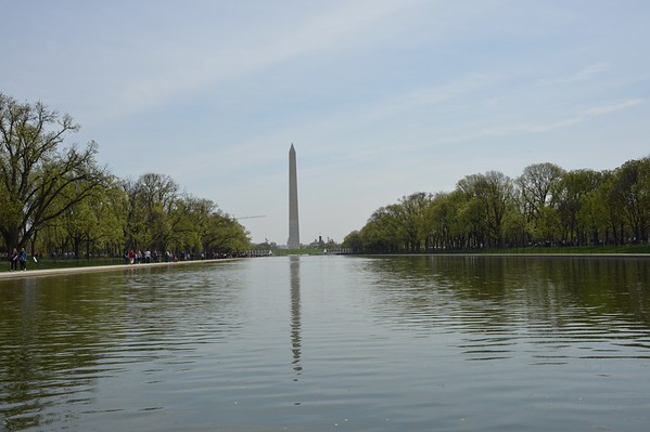 Lincoln And Washington Memorial April