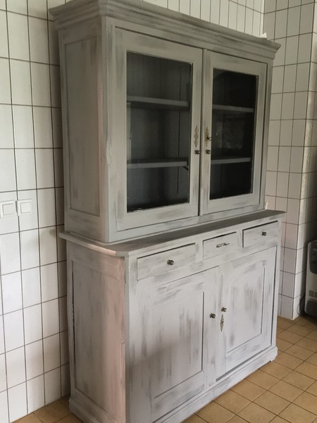 China hutch comes with the house. Great for everyday dishes and small pantry down below.