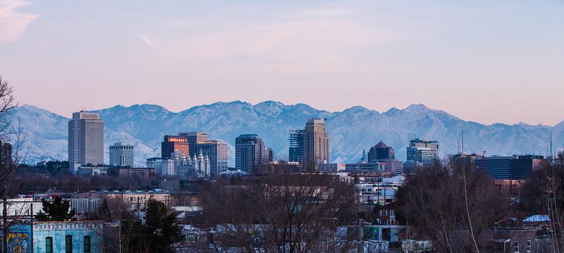 Salt Lake Skyline January 2016