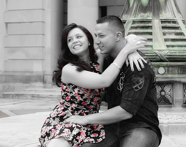 Engagement Photography in Clinton Square Downtown Syracuse NY (Part 1 of 3)